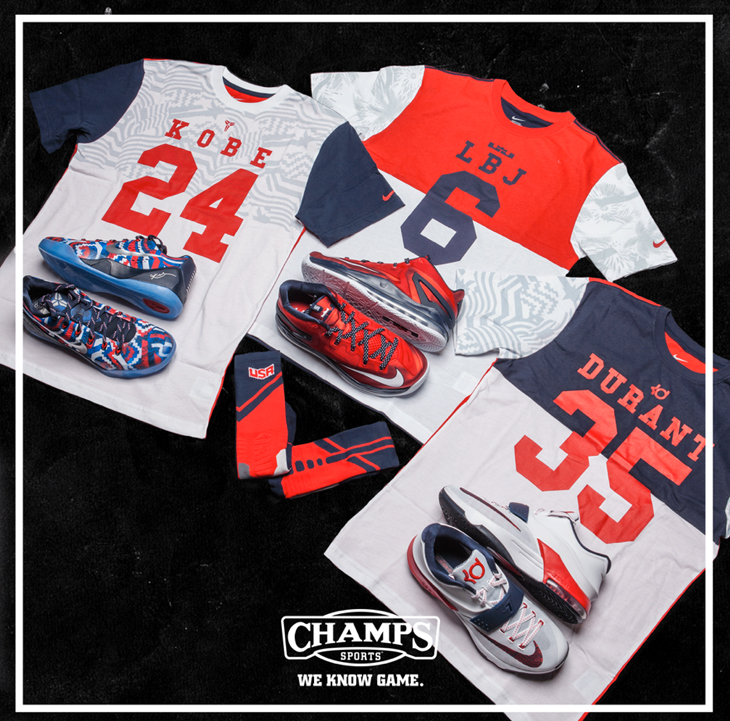 b3f468078be4 Nike LeBron KD and Kobe Independence Day Shirts