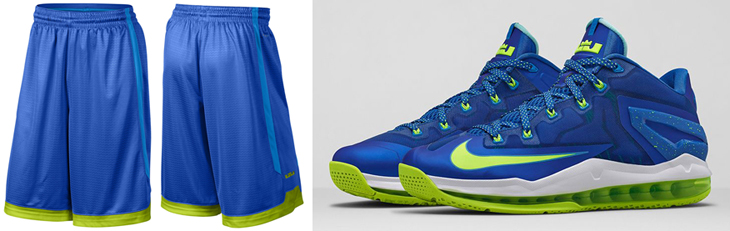 brand new a334b d35f6 nike-lebron-11-sprite-relentless-shorts