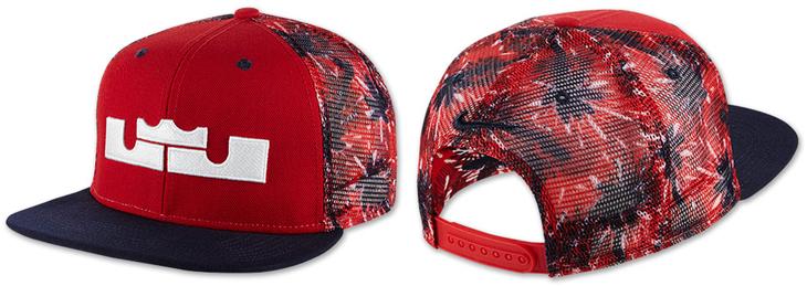 09cf16e24769 nike-lebron-independence-day-hat. Nike LeBron 4th of July Snapback ...
