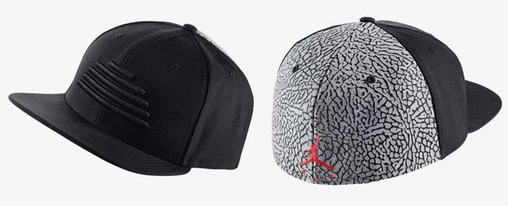 Jordan Retro 3 Sneaker Fitted Cap Black Gym Red  9071854e493