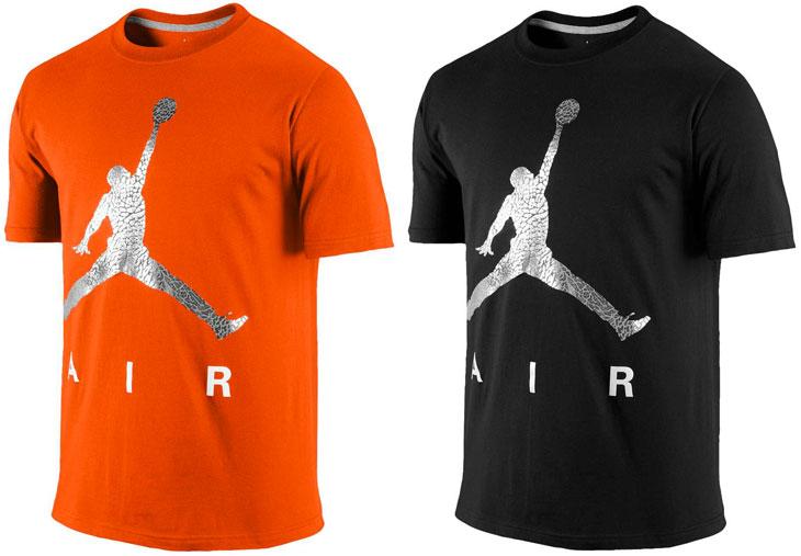 orange air jordan shirt
