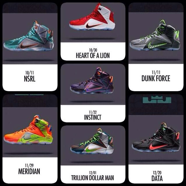 3b3d12a9b59b Nike LEBRON 12 Upcoming Colorways and Release Dates