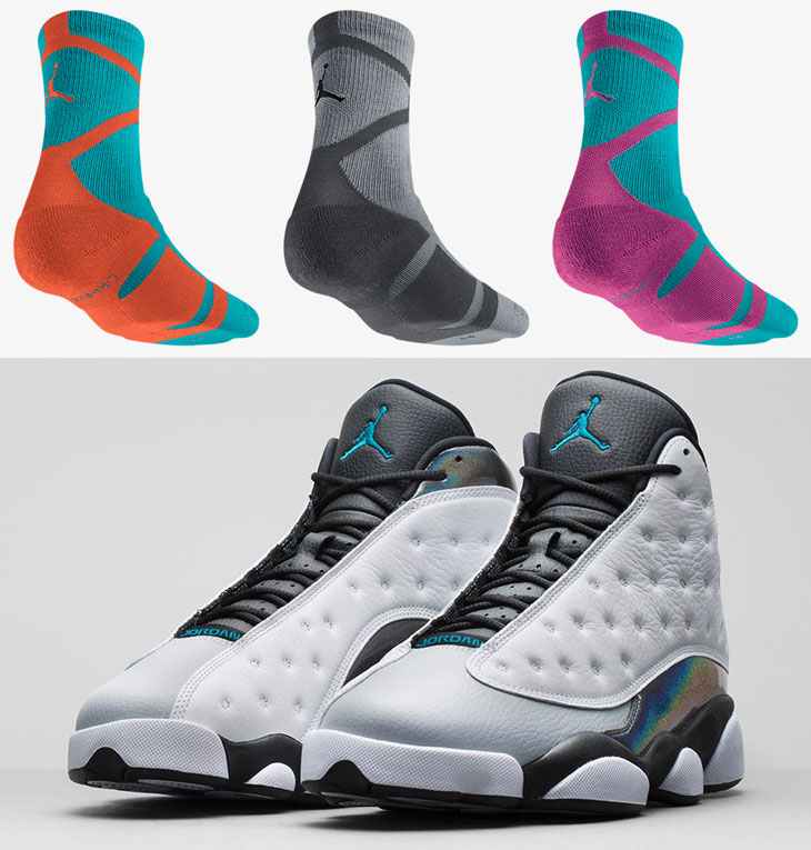 sale retailer 392f3 8d48a air-jordan-13-barons-wolf-grey-socks