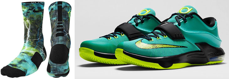 reputable site d17d1 fda5a Nike KD 7 Uprising Socks | SportFits.com