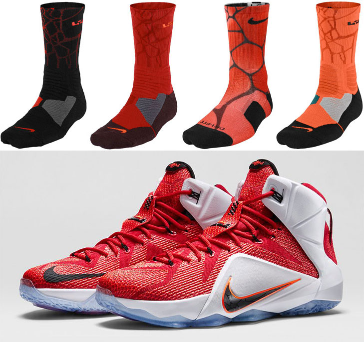 4cf1cf6d1065 Nike LeBron Socks to Sport with the Nike LEBRON 12 Heart of a Lion ...