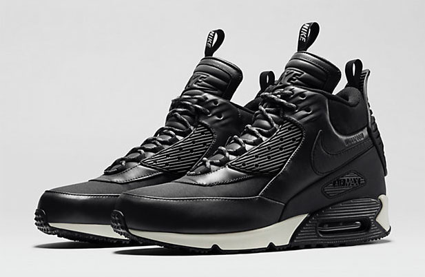 e017c724ac4 Nike Air Max 90 SneakerBoot Black White Magnet Grey