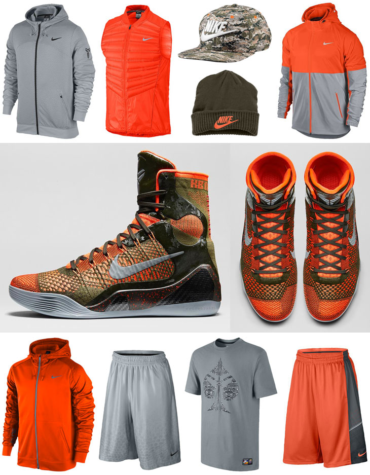 1e4f2330887 Nike Kobe 9 Elite Sequoia Clothing Shirts Shorts Hats Socks ...