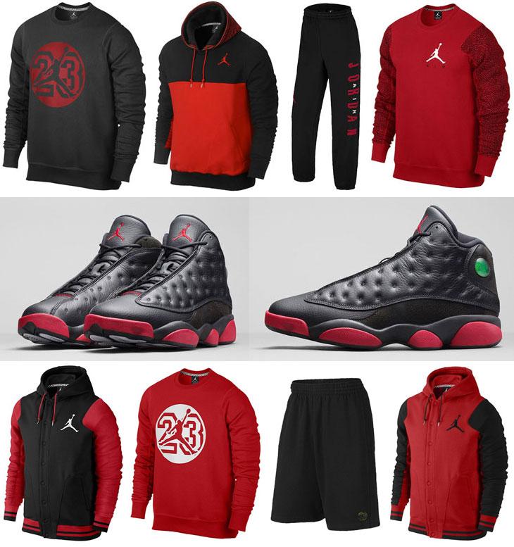f533eb031fd27f Air Jordan 13 Black Gym Red Clothing Apparel