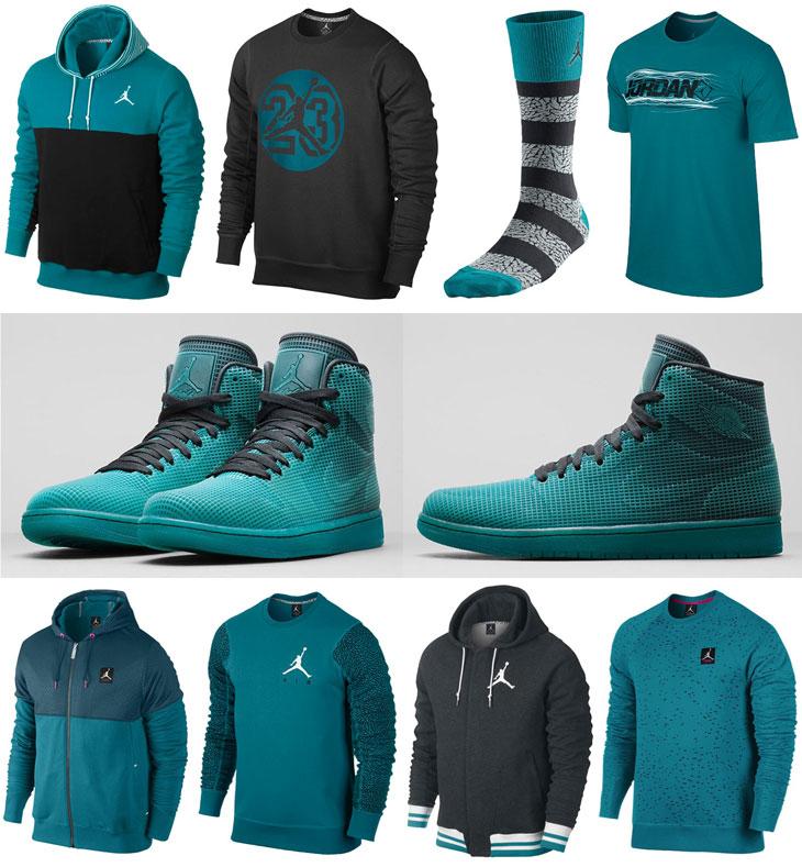 buy online 882b3 78972 Air Jordan 4LAB1 Tropical Teal Shirts Clothing Socks   SportFits.com