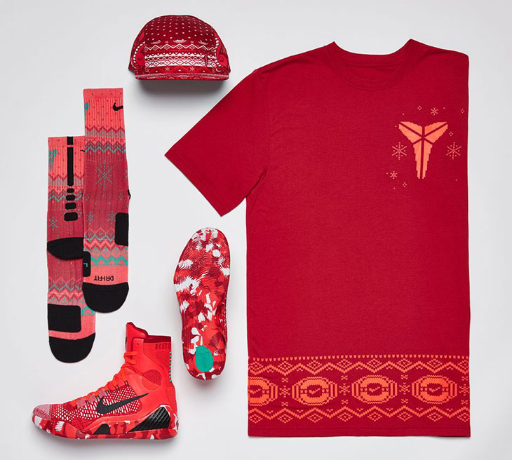 9815cfcbba02 Nike Kobe 9 Christmas Clothing Shirt Hat and Socks