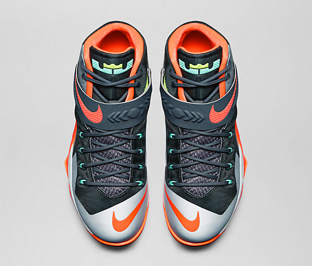 8012fb3bd907 Nike Zoom LeBron Soldier 8 Dark Magnet Grey Hyper Crimson ...