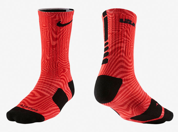 size 40 fa837 b2b81 Nike LeBron Elite Court Vision Socks