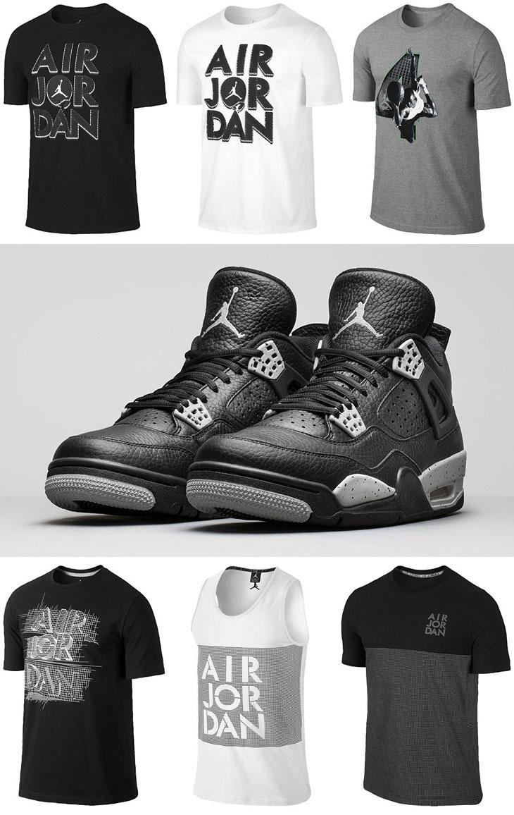 491d801f208147 Air Jordan 4 Tech Grey Oreo Shirts