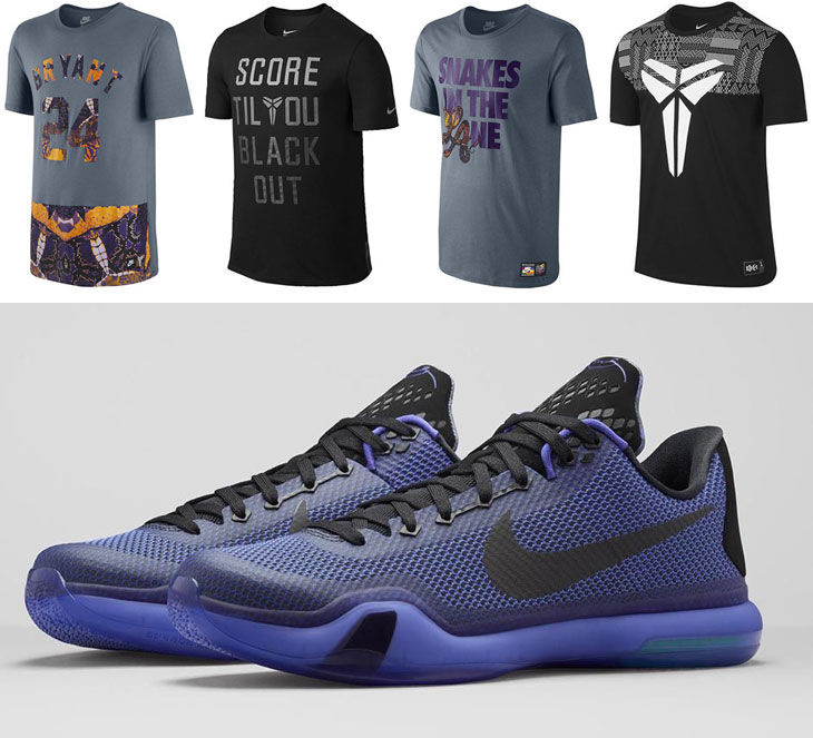 """best service c4b99 af7f6 Nike Kobe Shirts to Wear with the Nike Kobe X """"Blackout"""""""