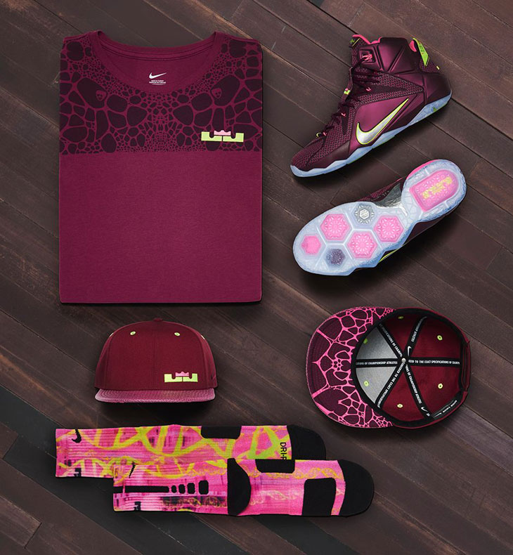 4b27da0849a Nike LeBron 12 Double Helix Clothing Collection
