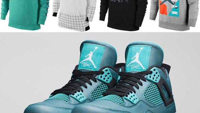 "bdd43ee926a010 Jordan Sweatshirts to Wear with the Air Jordan 4 Retro ""Teal"""