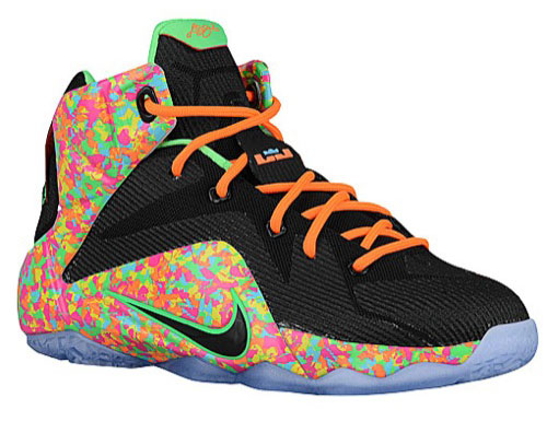 7573e67cfa673 Nike LeBron 12 Cereal Fruity Pebble Collection
