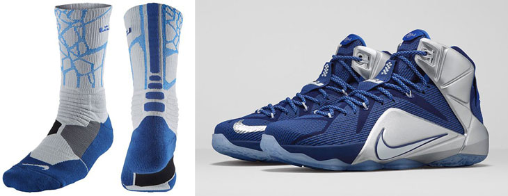 outlet store 75e17 5d072 nike-lebron-12-what-if-cowboys-socks