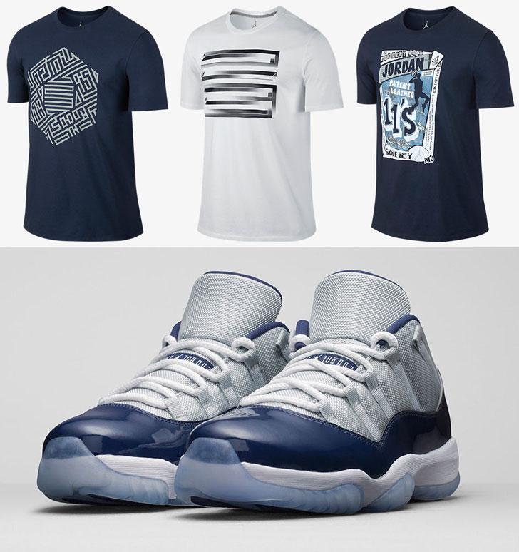 e7dd68195493b1 Air Jordan 11 Low Georgetown Shirts