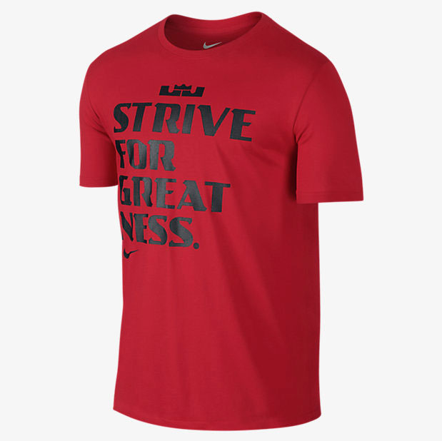 new product a97b8 7977c nike-lebron-strive-for-greatness-shirt-red