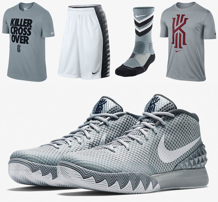 "huge selection of e82ee 85d06 Nike Kyrie 1 ""Wolf Grey"" Apparel Hook-Ups"