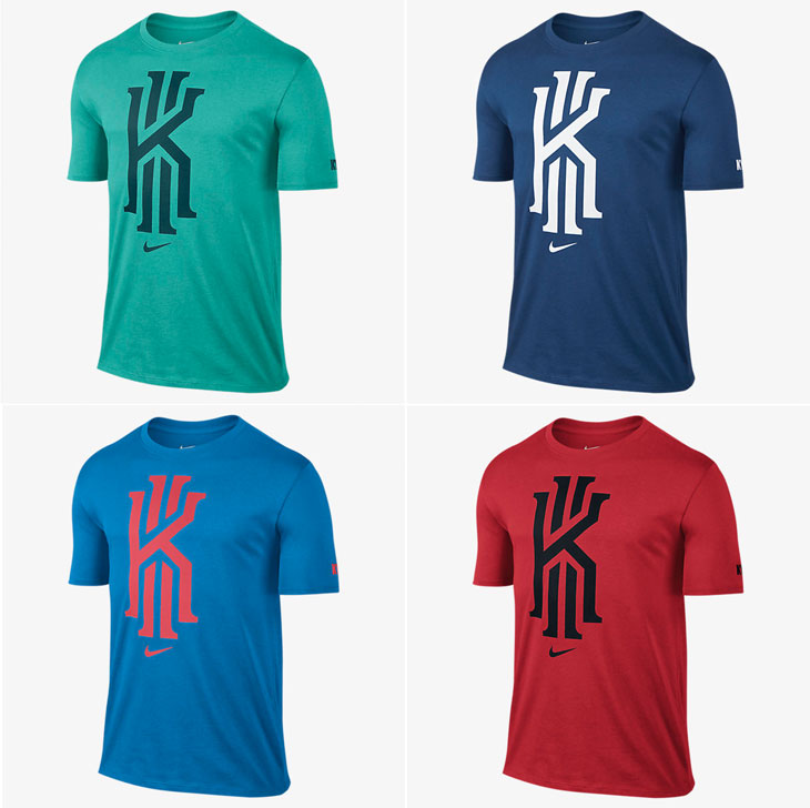 1aa3d449 Nike Kyrie Irving Foundation Logo T-Shirts – New Colors Now Available