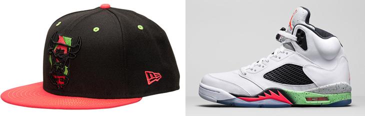 043a3750d2d Air Jordan 5 Poison Green X New Era Chicago Bulls Hat