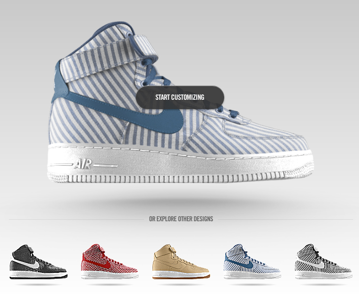uk availability afaeb 20bd3 coupon nike id customize air force 1 high 4aed4 7a749