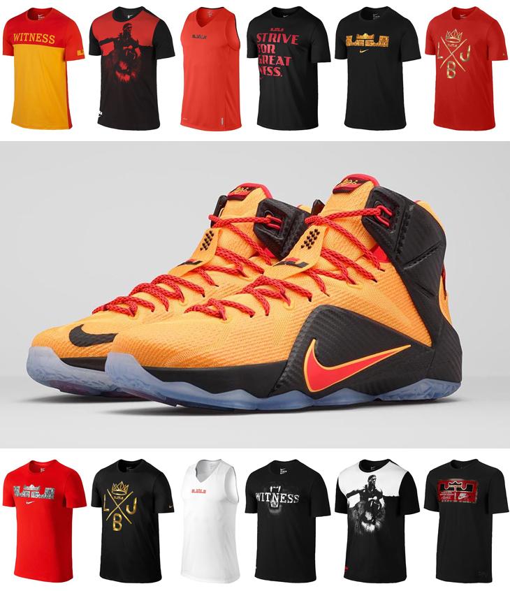 c292b6f53f12 Nike LeBron 12 Witness Cleveland Shirts