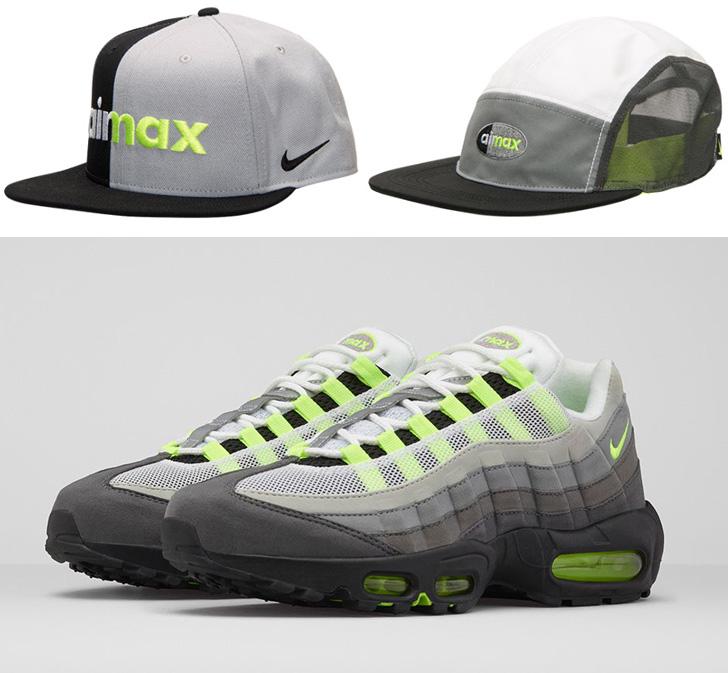"""05dd4a2b056ae Nike Air Max 95 OG """"Neon"""" Hats"""