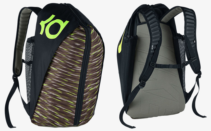 b006887a2632 Nike KD 8 Max Air Backpack Black Tumbled Grey Volt