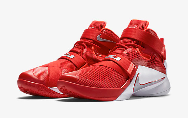 """competitive price b02cd 600bf Nike LeBron Soldier 9 (Team) """"University Red Metallic Silver"""""""