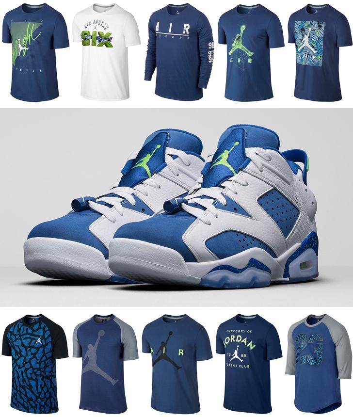 f8b6defb288 Air Jordan 6 Low Insignia Blue Ghost Green Shirts | SportFits.com