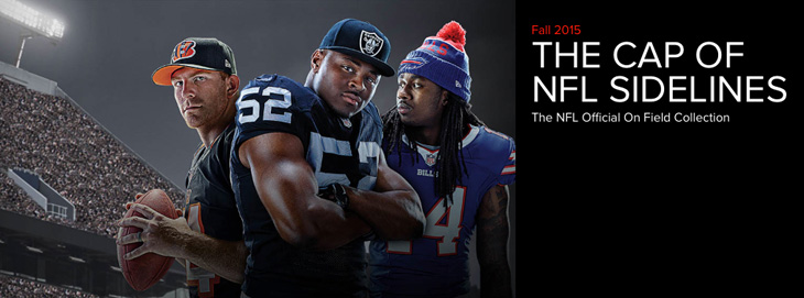 c5b8b1ea966 New Era NFL 2015 On Field Sideline Hats