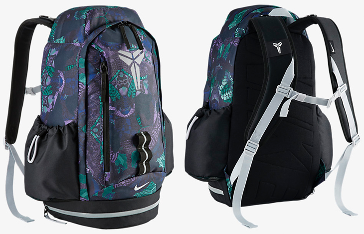 96a1153bdd82 Nike Kobe Mamba Backpack Black Radiant Emerald Metallic Silver ...