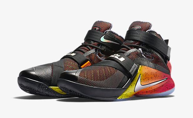 "c950bc8d501 Nike Zoom LeBron Soldier 9 LE ""Black Bright Citrus Ember Glow"""