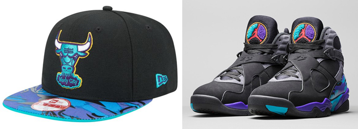 9a70bf0f22462d Air Jordan 8 Aqua New Era NBA Hook Hats