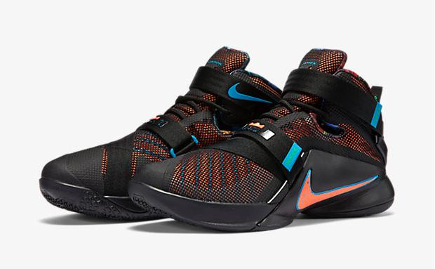 low priced 9cfa3 2cb65 Nike LeBron Soldier 9 Black Blue Lagoon Hyper Orange ...
