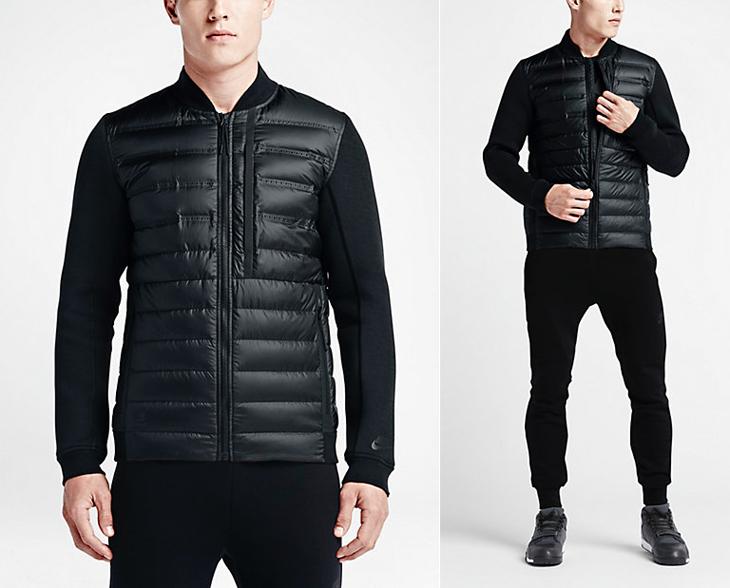 harina Plausible Espectáculo  Nike Tech Fleece Aeroloft Bomber Jacket | SportFits.com