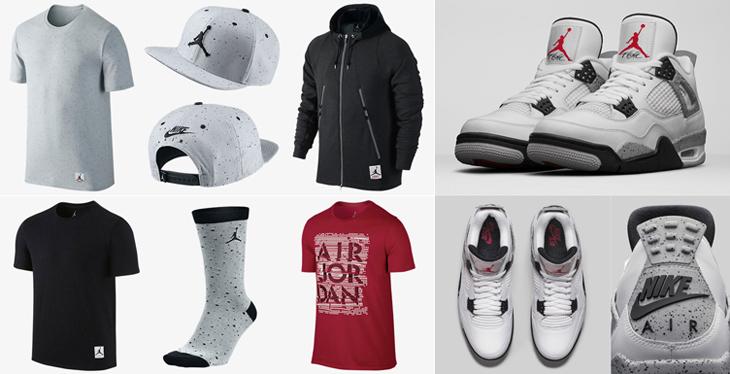 de1558ce8af2d6 Air Jordan 4 White Cement Clothing