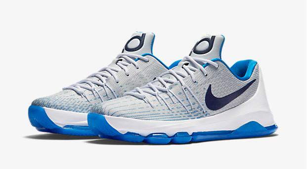 963d750cc38c Nike KD 8 Home White Blue