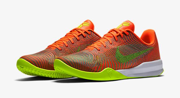 "newest 1835c 7d885 Nike Kobe Mentality 2 ""Total Crimson Wolf Grey White Volt"""