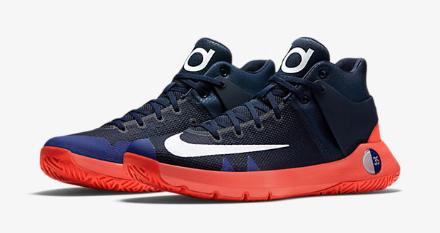 "new styles 36441 68cae Nike KD Trey 5 IV ""Obsidian Bright Crimson Deep Royal Blue"""