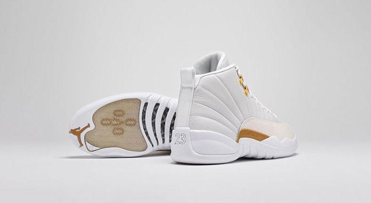 fc4aa752e3b5 Air Jordan 12 OVO White Gold Clothing