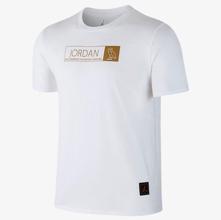 fb4a2be60b6490 Air Jordan 12 OVO White Gold Clothing
