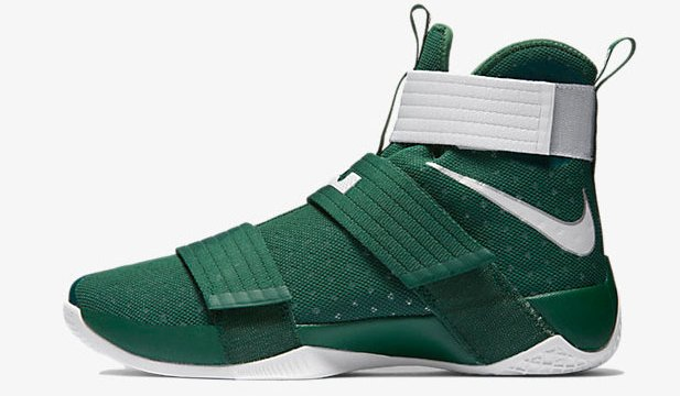 dc16e079ec98 Nike LeBron Soldier 10 (Team) Now Available in Green