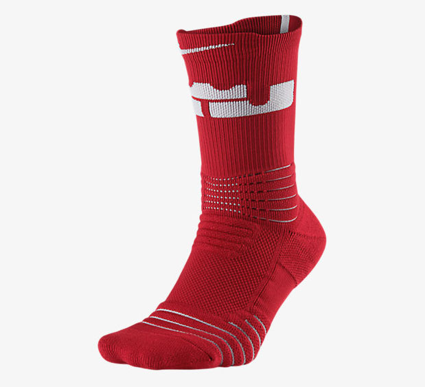 the latest f361a a2d81 nike-lebron-versatility-socks-red-1