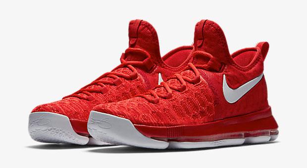 a7c8e5b60d9 Nike KD 9 University Red Black White