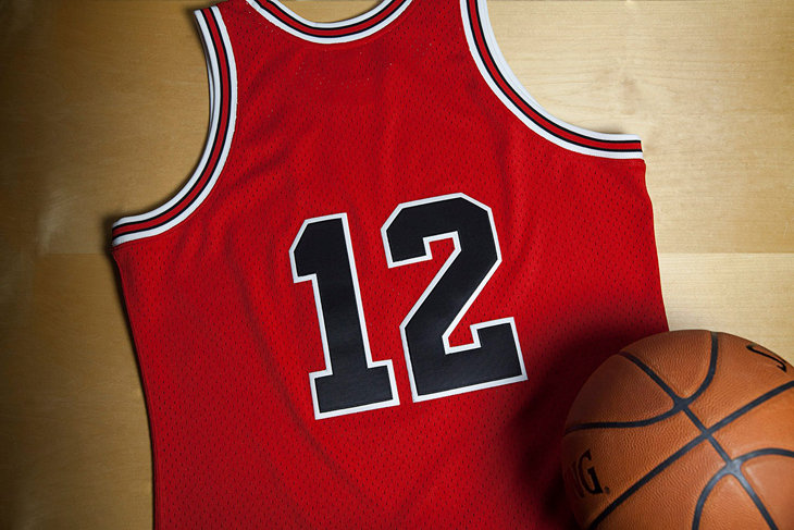 quality design b8d58 1228f Chicago Bulls Michael Jordan 12 Jersey by Mitchell and Ness ...
