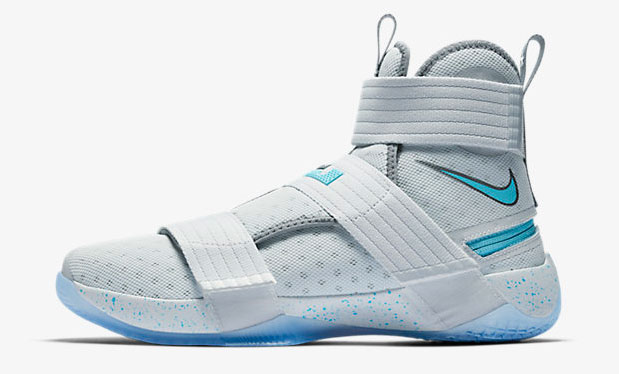 2aa6592ff222 Nike LeBron Soldier 10 FlyEase Pure Platinum Cool Grey Vivid Sky ...